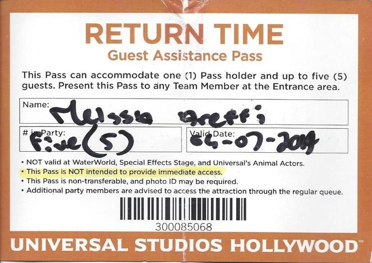 universal studios guest services